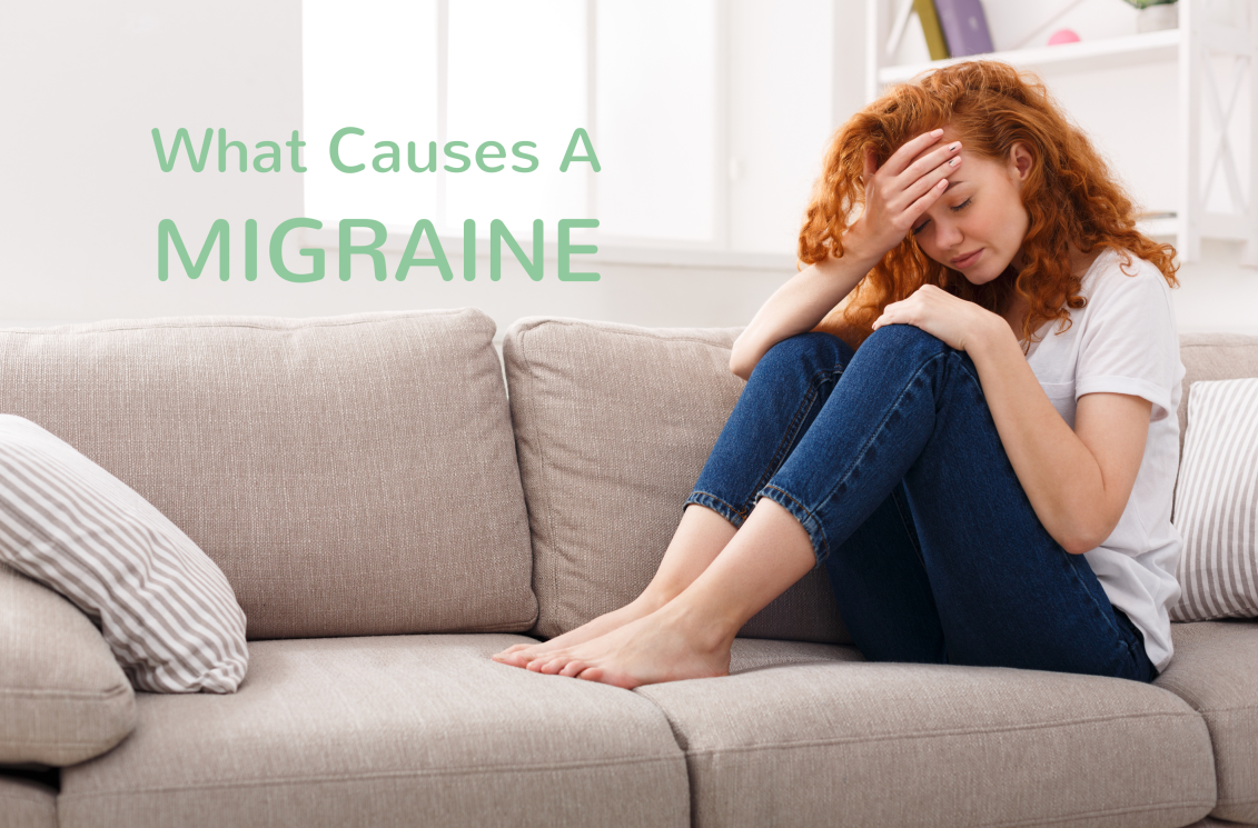 woman suffering from a migraine cover image