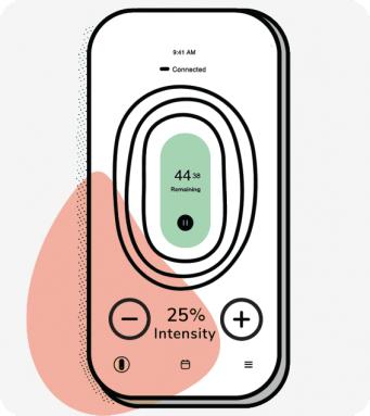 Increase intensity using app illustration
