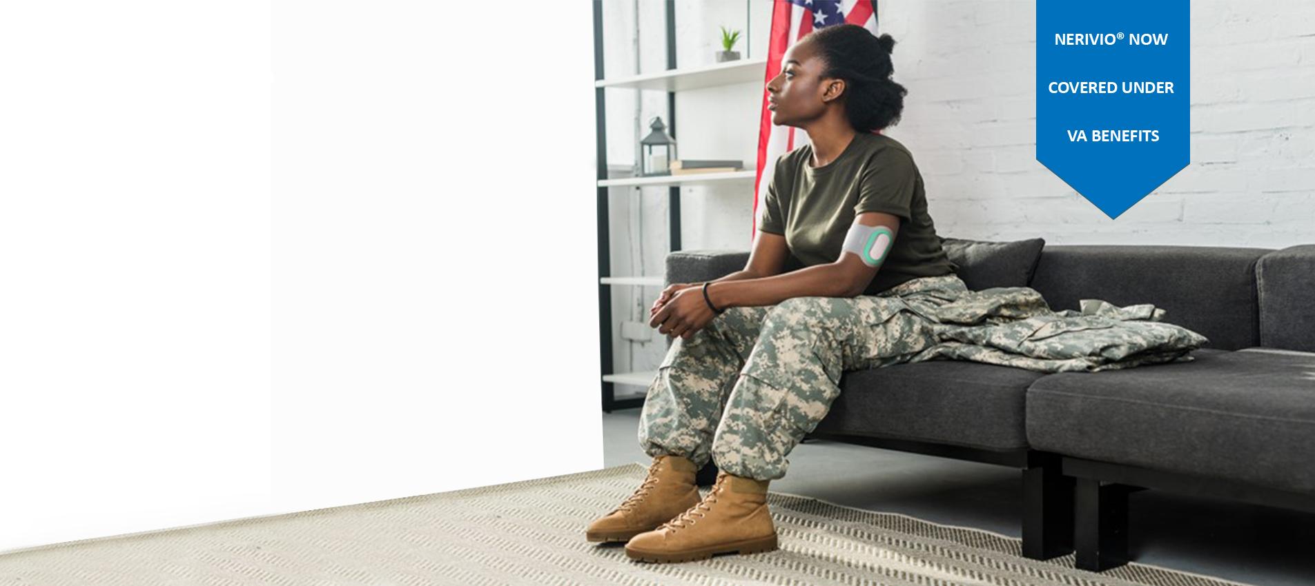 woman veteran using Nerivio