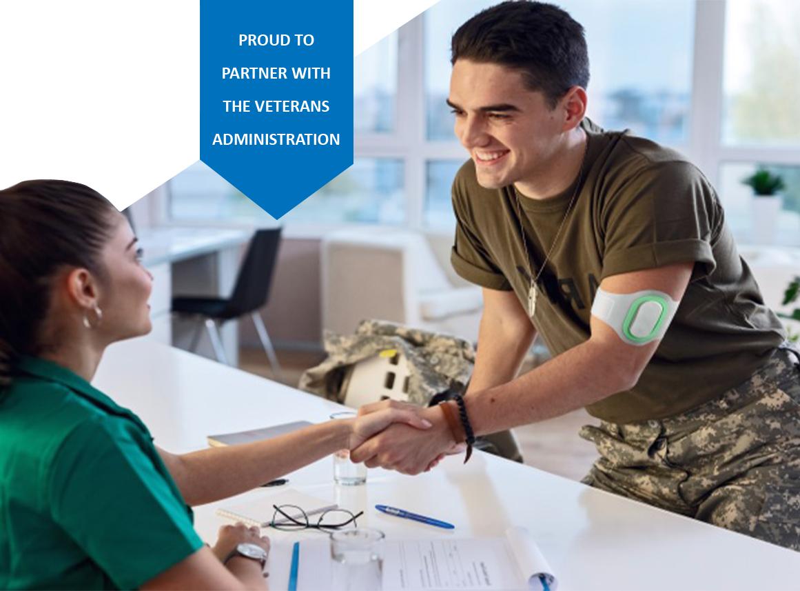 veteran using Nerivio at VA office mobile