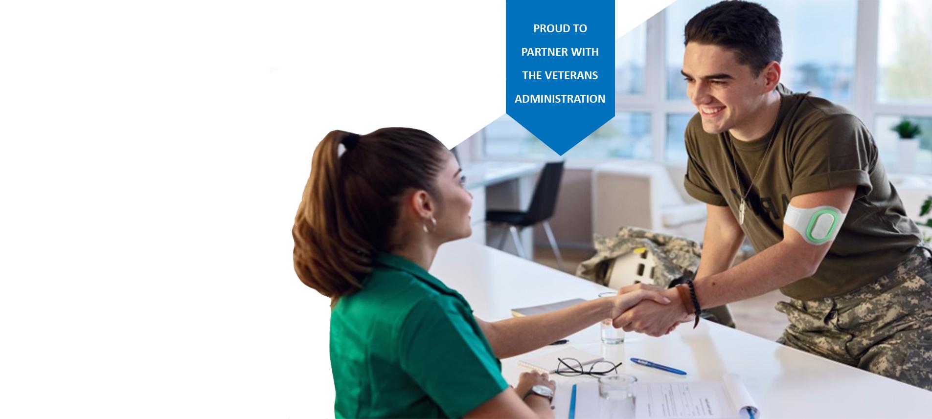veteran using Nerivio at VA office
