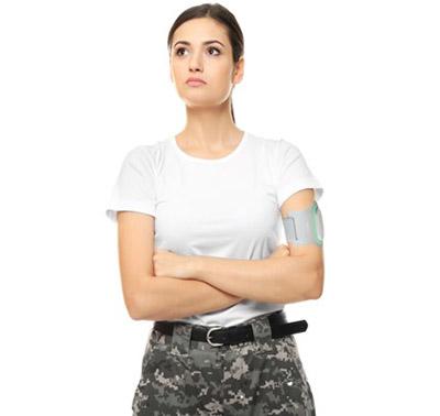 female veteran waring Nerivio